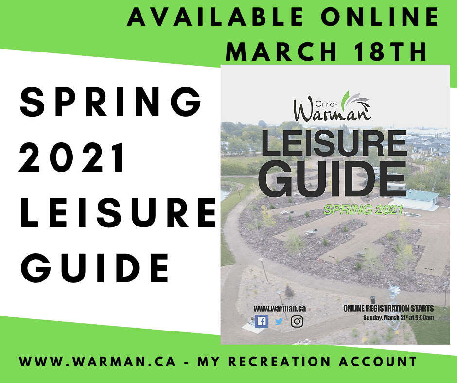 SPRING 2021 WATCH FOR THE GUIDE!