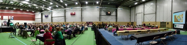 Panoramic of both sides of Gym at Legends