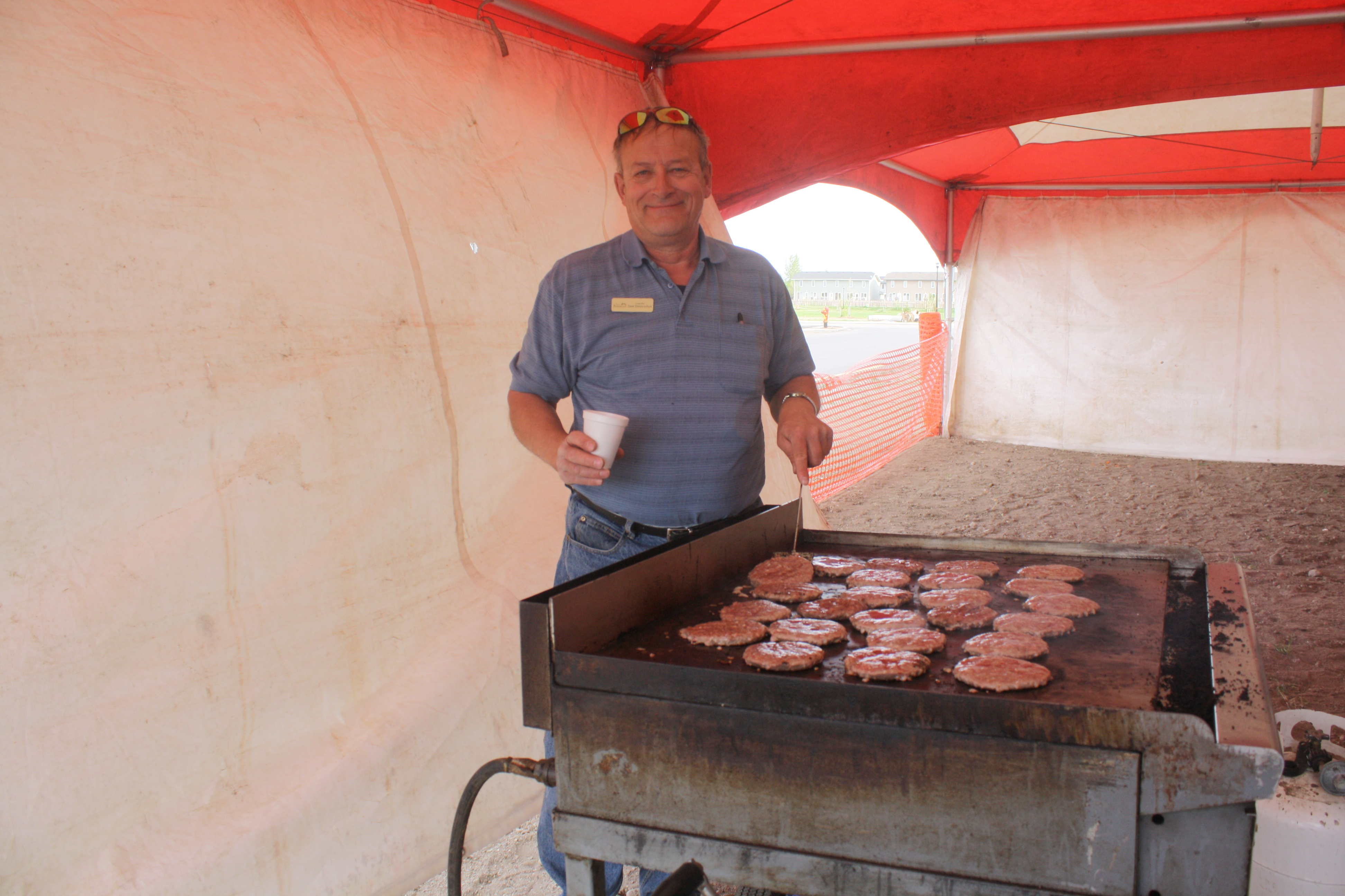 Councillor Dmytryshyn Cooking Burgers